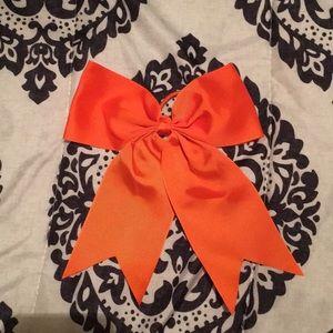 Orange bow with elastic